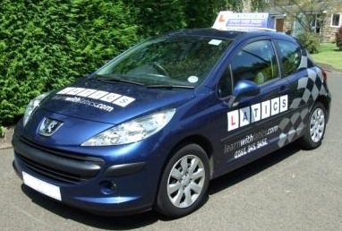 Latics Driver Training's new vehicle branding