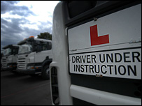 learner lorry driver